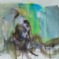 Lîle d'elle #X, Priscille Deborah artiste peintre expressionniste sensualiste