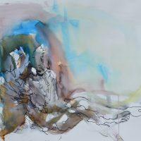 Lîle d'elle #XI, Priscille Deborah artiste peintre expressionniste sensualiste