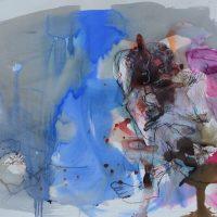 Lîle d'elle #XII, Priscille Deborah artiste peintre expressionniste sensualiste