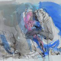 Lîle d'elle #XIII, Priscille Deborah artiste peintre expressionniste sensualiste