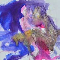 Lîle d'elle #XIV, Priscille Deborah artiste peintre expressionniste sensualiste