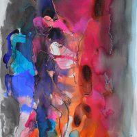 Lîle d'elle #XIX, Priscille Deborah artiste peintre expressionniste sensualiste