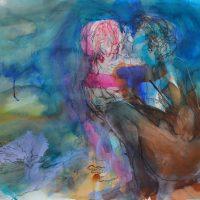 Lîle d'elle #XV, Priscille Deborah artiste peintre expressionniste sensualiste