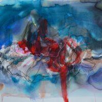 Lîle d'elle #XVI, Priscille Deborah artiste peintre expressionniste sensualiste