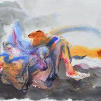 Lîle d'elle #XVII, Priscille Deborah artiste peintre expressionniste sensualiste