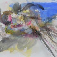 Lîle d'elle #XVIII, Priscille Deborah artiste peintre expressionniste sensualiste
