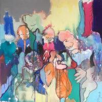 La forêt d'émeraude, Priscille Deborah artiste peintre expressionniste sensualiste