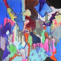 Le jardin des délices, Priscille Deborah artiste peintre expressionniste sensualiste