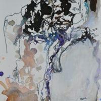 Vagabonde IV, Priscille Deborah artiste peintre expressionniste sensualiste