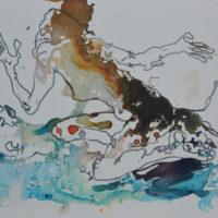 Vagabonde #VII, Priscille Deborah artiste peintre expressionniste sensualiste