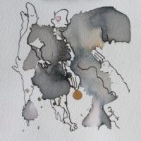 Les petites fissures II, Priscille Deborah artiste peintre expressionniste sensualiste