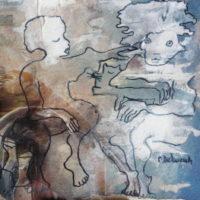 Les petites fissures IX, Priscille Deborah artiste peintre expressionniste sensualiste