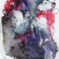 Les petites fissures VI, Priscille Deborah artiste peintre expressionniste sensualiste