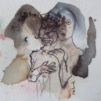 Les petites fissures VIII, Priscille Deborah artiste peintre expressionniste sensualiste