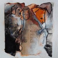 Les petites fissures X, Priscille Deborah artiste peintre expressionniste sensualiste