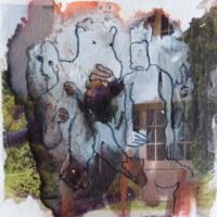 Les petites fissures XI, Priscille Deborah artiste peintre expressionniste sensualiste
