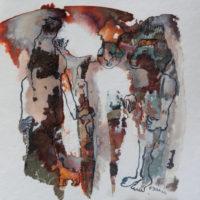 Métissage #X, Priscille Deborah artiste peintre expressionniste sensualiste