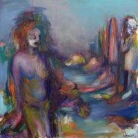 Ce que je fais là, Priscille Deborah artiste peintre expressionniste sensualiste