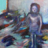 La gardienne du temple, Priscille Deborah artiste peintre expressionniste sensualiste