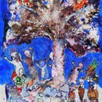 La forêt magique #I, Priscille Deborah artiste peintre expressionniste sensualiste
