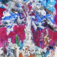 La forêt magique #II, Priscille Deborah artiste peintre expressionniste sensualiste