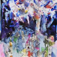La forêt magique #III, Priscille Deborah artiste peintre expressionniste sensualiste