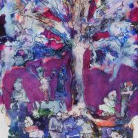 La forêt magique #IV, Priscille Deborah artiste peintre expressionniste sensualiste