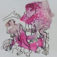 Les petites fissures #XV, Priscille Deborah artiste peintre expressionniste sensualiste