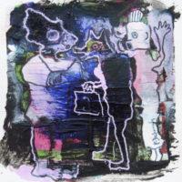 Les petites fissures #XVII, Priscille Deborah artiste peintre expressionniste sensualiste