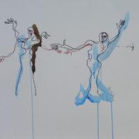 Sans titre #I, Priscille Deborah, artiste peintre expressionniste sensualiste
