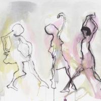 Sans titre #II, Priscille Deborah, artiste peintre expressionniste sensualiste