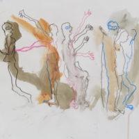 Sombre Printemps #100, Priscille Deborah, artiste peintre expressionniste sensualiste