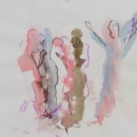 Sombre Printemps #101, Priscille Deborah, artiste peintre expressionniste sensualiste