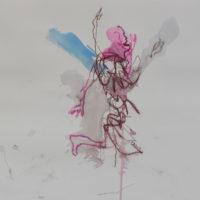 Sombre Printemps #103, Priscille Deborah, artiste peintre expressionniste sensualiste
