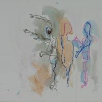 Sombre Printemps #104, Priscille Deborah, artiste peintre expressionniste sensualiste