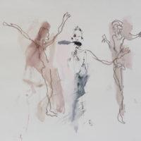Sombre Printemps #98, Priscille Deborah, artiste peintre expressionniste sensualiste