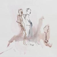 Sombre Printemps #99, Priscille Deborah, artiste peintre expressionniste sensualiste