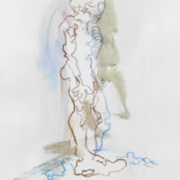 Zacharie #V, Priscille Deborah artiste peintre expressionniste sensualiste