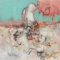 S'asseoir sur le rebord du monde, Priscille Deborah, artiste peintre expressionniste sensualiste