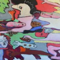 La palanquée des rêveurs II, Priscille Deborah, artiste peintre expressionniste sensualiste