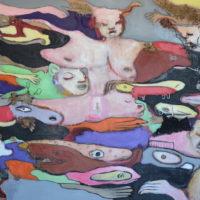 La palanquée des rêveurs I, Priscille Deborah, artiste peintre expressionniste sensualiste