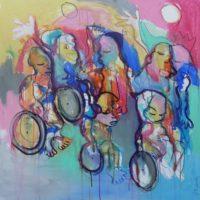 Entre ciel et terre, Priscille Deborah, artiste peintre expressionniste sensualiste