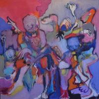 Le mur du souffle, Priscille Deborah, artiste peintre expressionniste sensualiste