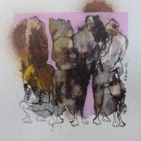 Métissage #XIX, Priscille Deborah, artiste peintre expressionniste sensualiste