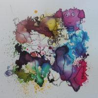 Métissage #XX, Priscille Deborah, artiste peintre expressionniste sensualiste