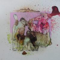 Métissage #XXI, Priscille Deborah, artiste peintre expressionniste sensualiste