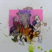Métissage #XXIV, Priscille Deborah, artiste peintre expressionniste sensualiste