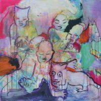Vert Paradis, Priscille Deborah, artiste peintre expressionniste sensualiste