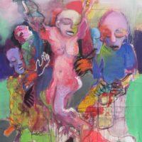 Les chasseurs d'orage, Priscille Deborah, artiste peintre expressionniste sensualiste