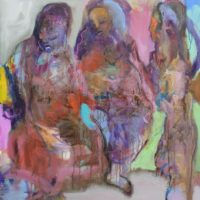 Les forteresses, Priscille Deborah, artiste peintre expressionniste sensualiste